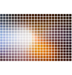 Brown orange white abstract rounded mosaic vector