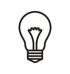Bulb symbol vector image