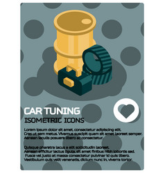 Car tuning color poster vector