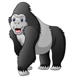 cartoon funny gorilla vector image