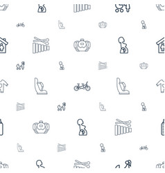 child icons pattern seamless white background vector image