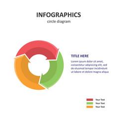 circle diagram pie diagram 3d infographics vector image