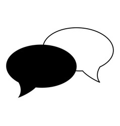 Conversation bubbles icon image vector