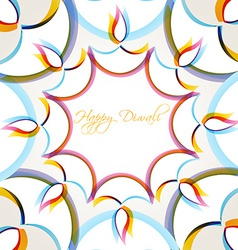 Creative diwali background vector