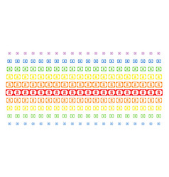 diploma shape halftone spectral pattern vector image