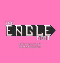 Eagle font alphabet vector