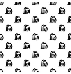 eco factory pattern seamless vector image
