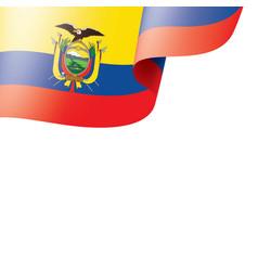ecuador flag on a white vector image
