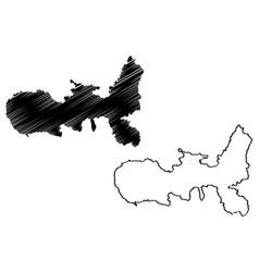 Elba map vector