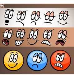 Emoticon elements set cartoon vector