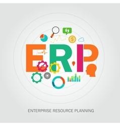 Erp enterprise reource planning vector
