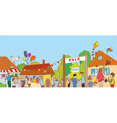 Fair holiday at the town vector image