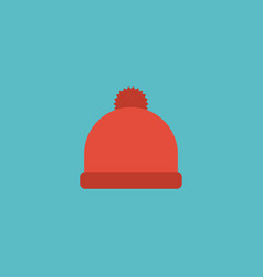 Flat icon beanie element of vector