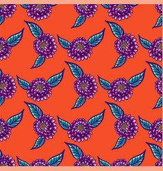 Floral hand drawn vintage seamless pattern with vector