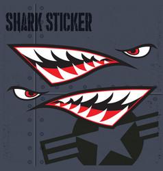 Flying tiger shark mouth sticker vinyl 9 vector