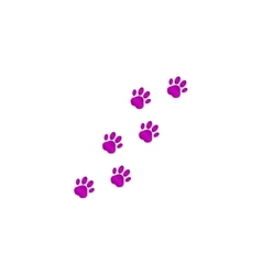 Footprints of dogs turn right - vector