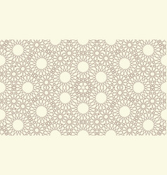 Geometric arabic seamless pattern abstract vector