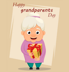 Grandparents day greeting card grandmother vector