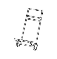 hand cart cargo transportation delivery equipment vector image