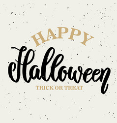 happy halloween hand drawn lettering vector image vector image