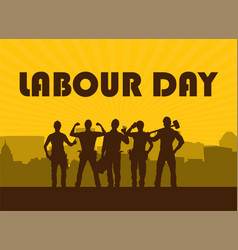 happy labour day greeting card vector image