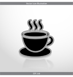 hot drink web icon vector image
