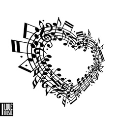 I love music concept vector