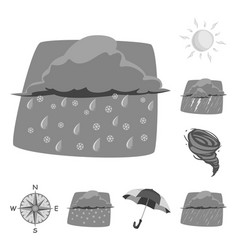 Isolated object of weather and climate icon set vector