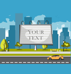 large blank urban billboard with copy space text vector image