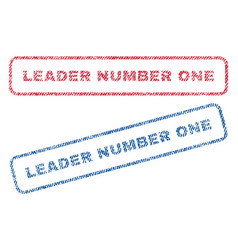 Leader number one textile stamps vector