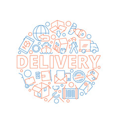 logistic concept global delivery cargo service vector image