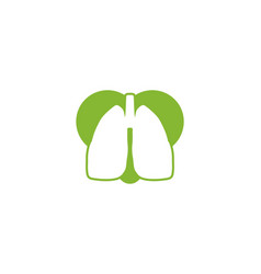 lung and love lung healthy logo inspiration vector image