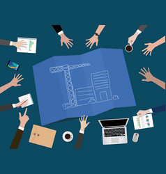 manage company development or build a startup vector image