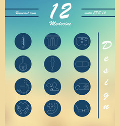 medicine and health care thin icons set vector image