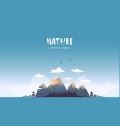 mountains cartoon vector image