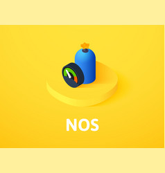 Nos isometric icon isolated on color background vector