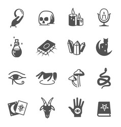 occultism esotery divination bold black vector image