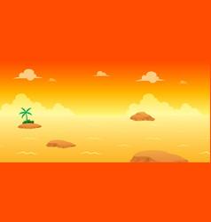 Ocean evening game background vector