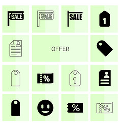 offer icons vector image