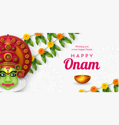Onam festival background for south india vector