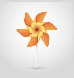 orange pinwheel vector image