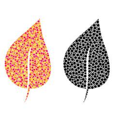 Pixel plant leaf mosaic icons vector