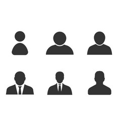 Profile icon set user sign in avatar vector