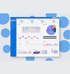rgbdashboard user admin panel template design vector image