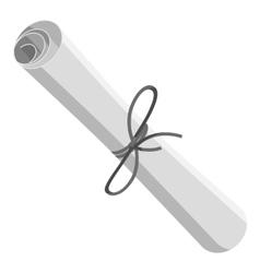 Scroll icon gray monochrome style vector image