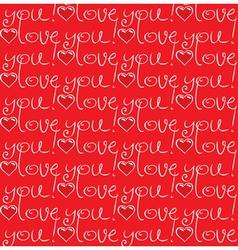 Seamless love vector image
