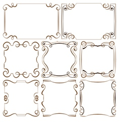 set of decorative frameworks vector image