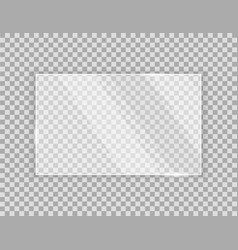Sheet clear glass on a transparent background vector