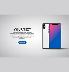 smartphone banner mockup minimalistic vector image
