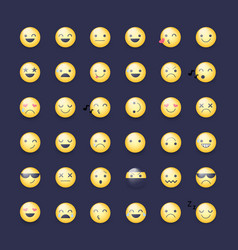 smileys icon set emoticons pictograms vector image